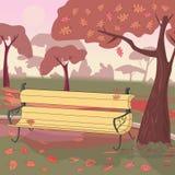 Autumn Landscape Autumn Color Illustration de vecteur Images stock