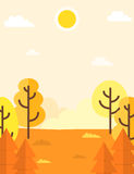 Autumn landscape background Royalty Free Stock Photo
