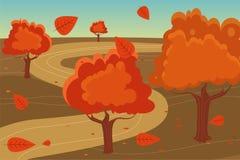 Autumn landscape background Stock Photos