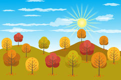 Autumn Landscape background Vector illustration Stock Images