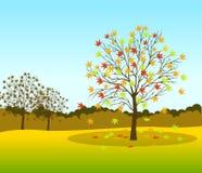 Autumn Landscape background Vector illustration Stock Photo