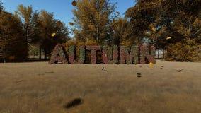 Autumn landscape backrgound vector illustration