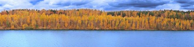 Autumn landscape of beautiful lake stock photos