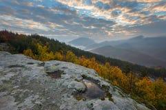 Autumn landscape at Belintash sanctuary, Rhodope Mountains, Bulgaria Stock Image