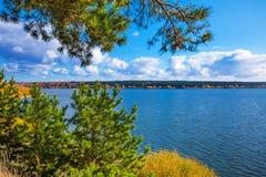 Autumn Landscape Berdsk, Sibéria, Rússia Imagens de Stock Royalty Free