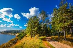 Autumn Landscape Berdsk, Sibéria, Rússia Fotografia de Stock Royalty Free