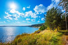 Autumn Landscape Berdsk, Sibéria, Rússia Fotos de Stock