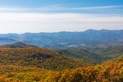 Autumn Landscape of the Blue Ridge Mountain Range Royalty Free Stock Images