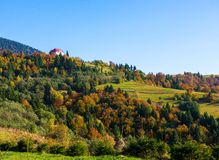Autumn landscape in Carpathian mountains Royalty Free Stock Photography