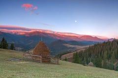 Autumn landscape. In the Carpathians near the village of Dzembronia stock images