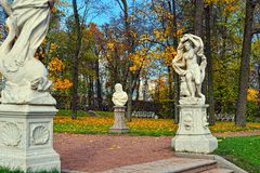 Autumn landscape Catherine park in Pushkin, Royalty Free Stock Image