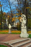 Autumn landscape Catherine park in Pushkin, Stock Photo