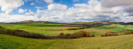 Autumn landscape in Central Bohemian Highlands, Czech Republic Royalty Free Stock Photography