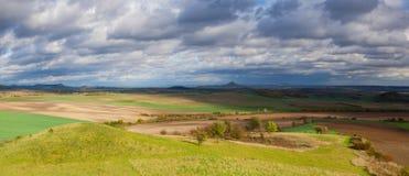 Autumn landscape in Central Bohemian Highlands, Czech Republic Stock Photos