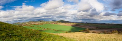 Autumn landscape in Central Bohemian Highlands, Czech Republic Stock Images
