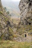Autumn landscape in Cernei Mountains, the gorge of Tesna stock photography