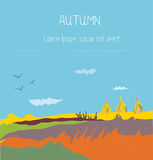 Autumn landscape countryside background Royalty Free Stock Photography