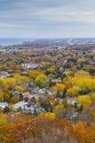 Autumn Landscape de desatención de la escarpa de Niágara, Ontario foto de archivo