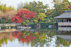 Autumn Landscape de jardin japonais à Tokyo Photographie stock