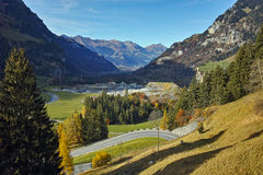 Autumn Landscape delle alpi svizzere, Svizzera Fotografia Stock Libera da Diritti