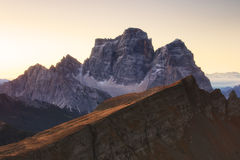 Autumn landscape in Dolomites Alps, Italy Royalty Free Stock Images