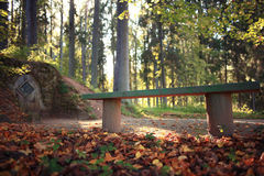 Autumn landscape at forest Royalty Free Stock Image