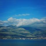 Autumn landscape of Gaeta bay. Mediterranean Sea. Royalty Free Stock Photos