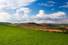 Autumn landscape. With golf course Royalty Free Stock Images