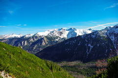 Autumn landscape of great peaks covered with snow. Tatry. Autumn landscape of great peaks covered with snow. Tatry stock image