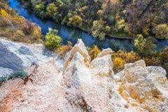 Autumn Landscape Het gebied van Novosibirsk, Westelijk Siberië, Rusland stock fotografie