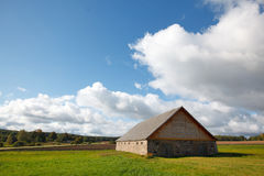 Autumn landscape. With a house Stock Images