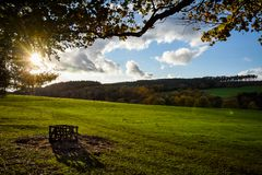 Autumn Landscape i Staffordshire, England Arkivfoton