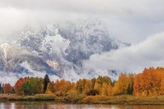 Autumn Landscape i Tetonsen Fotografering för Bildbyråer
