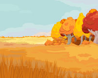 Autumn Landscape. Illustration of idyllic autumn landscape Royalty Free Stock Images