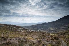 Autumn landscape image from mountains looking across countryside Stock Photography