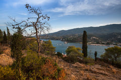 Autumn landscape on the island of Poros Royalty Free Stock Image