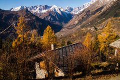 La salle,val aoste,italy Royalty Free Stock Photography