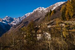 La salle,val aoste,italy Royalty Free Stock Images