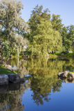 Autumn Landscape. Japanese Garden In The Tallinn City Park Royalty Free Stock Photography