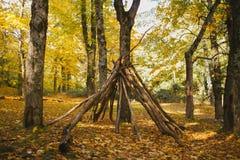 Autumn Landscape Kleurrijk de herfstbos royalty-vrije stock foto