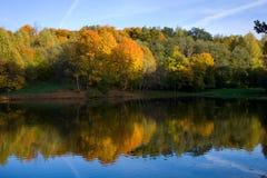 Autumn landscape of lake Stock Photography