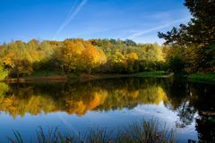 Autumn landscape of lake Royalty Free Stock Photography