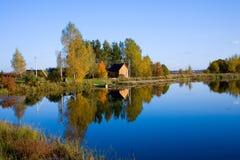 Autumn landscape of lake Stock Photo