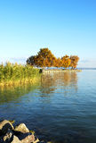 Autumn landscape at Lake Balaton, Hungary Royalty Free Stock Photography