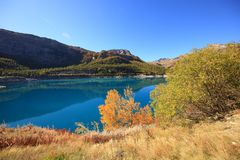Autumn landscape of a lake. Beautiful autumn landscape of a lake Royalty Free Stock Images