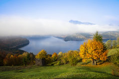 Autumn landscape with lake Stock Images