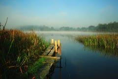 Autumn landscape lake shore Royalty Free Stock Images