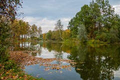 Autumn landscape by the lake Stock Photo