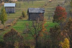 Autumn landscape from Maramures stock images