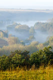 Autumn landscape with mist Royalty Free Stock Image